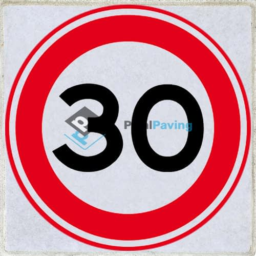 PixalPaving stoeptegel bedrukken - max 30km/h