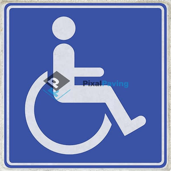 PixalPaving - stoeptegel bedrukken parkeerplaats minder validen