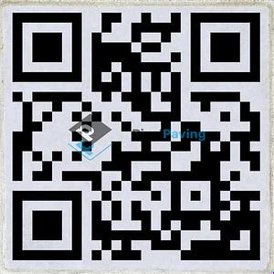 Stoeptegel met QR-code