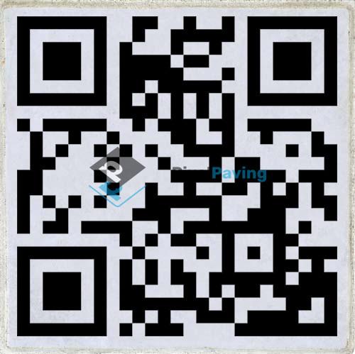 PixalPaving stoeptegel bedrukken QR-Code Website
