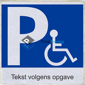 Stoeptegel Parkeerplaats Minder Validen met eigen tekst