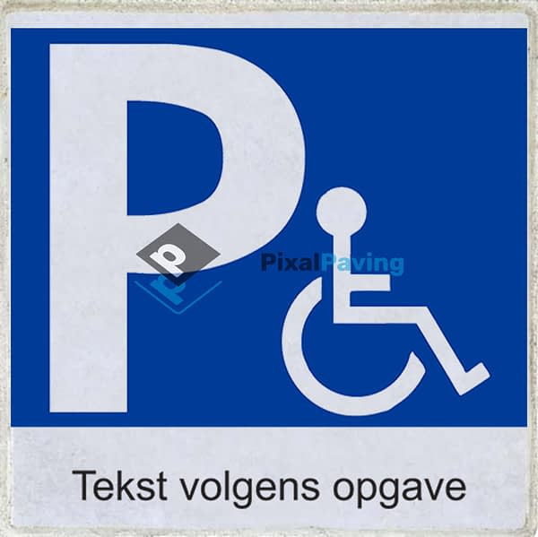 PixalPaving - stoeptegel bedrukken parkeerplaats minder validen met eigen tekst
