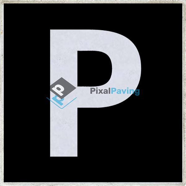 PixalPaving - stoeptegel bedrukken parkeerplaats zwart