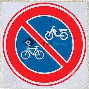 Stoeptegel verbod fietsen en bromfietsen te plaatsen