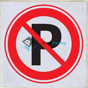 Stoeptegel verboden te parkeren met P