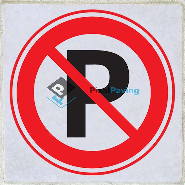 PixalPaving - stoeptegel bedrukken Verboden te parkeren p