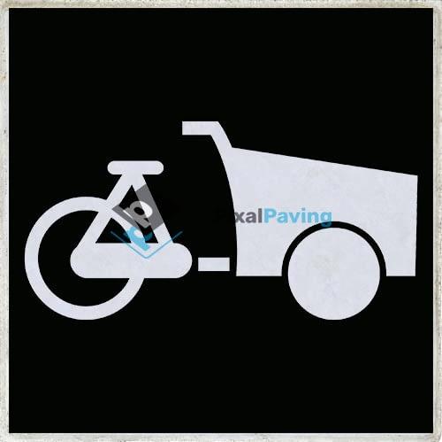 PixalPaving stoeptegel bedrukken - parkeerplaats bakfiets