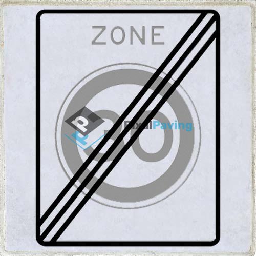 PixalPaving stoeptegel bedrukken - Einde zone maximum snelheid 30 km/h