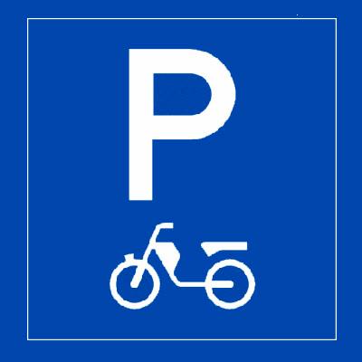 parkeertegel bromfietsers