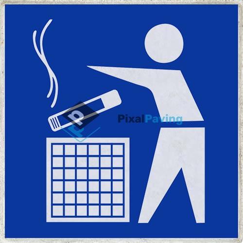 PixalPaving stoeptegel bedrukken - Informatiebord rookzone