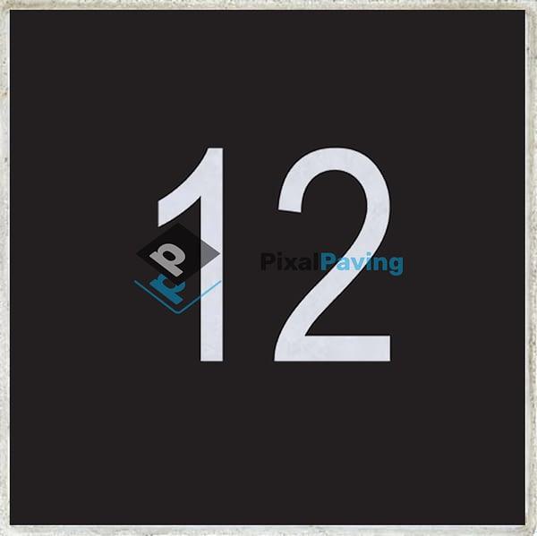 PixalPaving - stoeptegel bedrukken nummer zwart