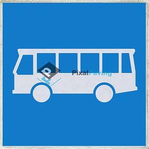 Stoeptegel aanduiding busstrook