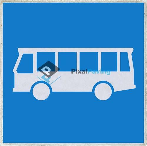 PixalPaving stoeptegel bedrukken F13 rijbaan bussen busstrook