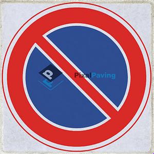 Stoeptegel verboden te parkeren