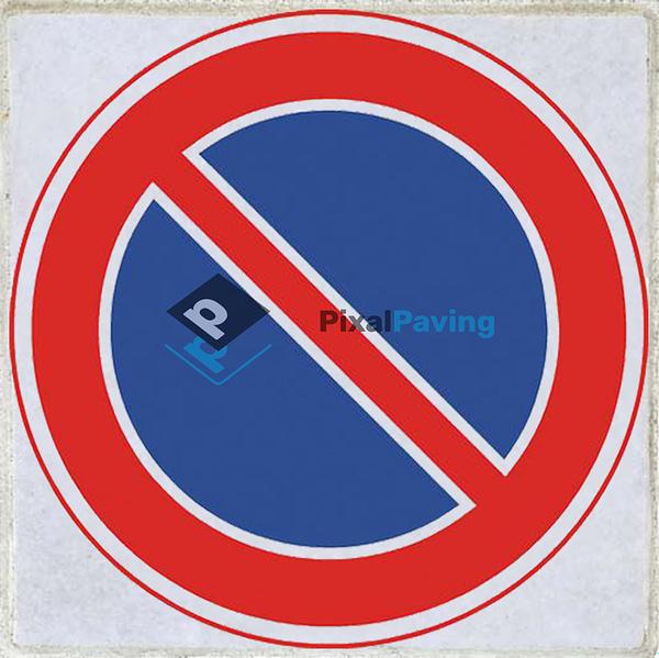 PixalPaving stoeptegel bedrukken - Verboden te parkeren