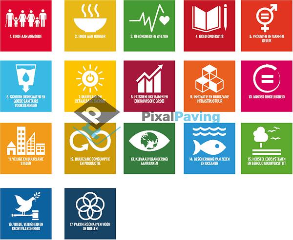 PixalPaving - stoeptegel bedrukken global goals