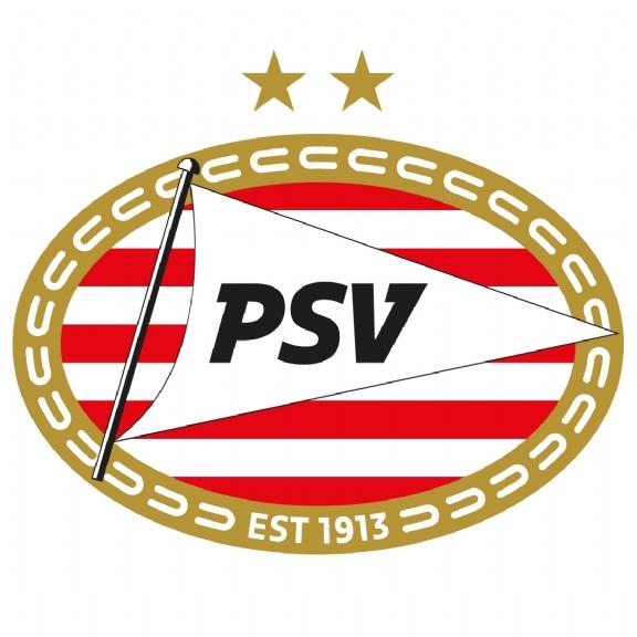 PSV logo in de tuin