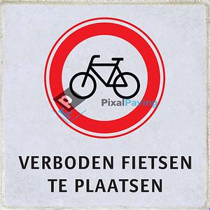 Stoeptegel gesloten voor fietsers verboden fietsen te plaatsen
