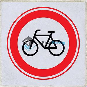 Stoeptegel gesloten voor fietsers