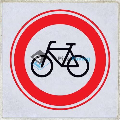 PixalPaving stoeptegel bedrukken - Gesloten voor fietsers